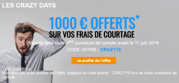 Crazy Days Bourse Direct Juin 2018